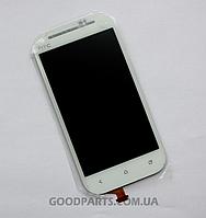 Дисплей с тачскрином для HTC C520e,T528t OneSV белый (Оригинал)