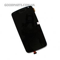 Дисплей с тачскрином для HTC Desire 500, 506e Z4 черный (Оригинал)