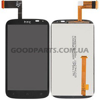 Дисплей с тачскрином для HTC T328e Desire X черный (Оригинал)