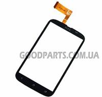 Сенсорный экран (тачскрин) для HTC T328e Desire X черный (Оригинал)
