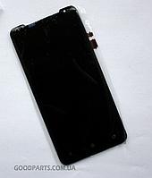 Сенсорный экран (тачскрин) для HTC Z321e One J черный (Оригинал)