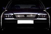 Накладки на решетку (8 шт, нерж) - Opel Astra G classic (1998-2012)