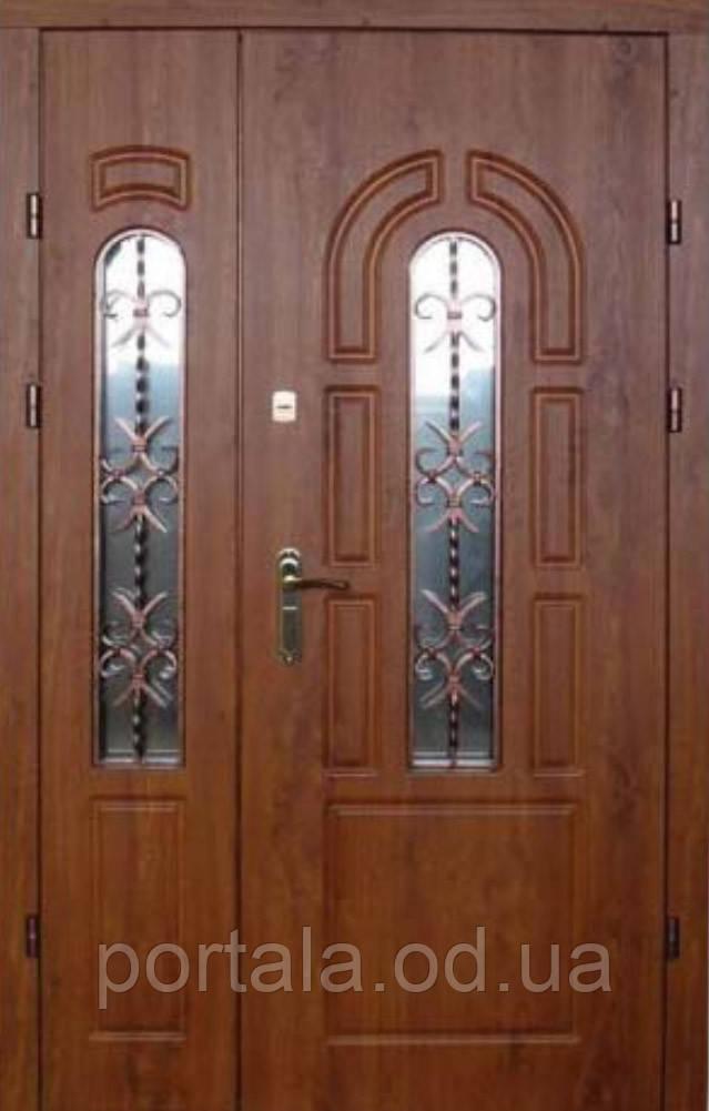 """Входная полуторная дверь для улицы """"Портала"""" ― модель BIG-12"""