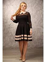 Женское молодежное платье батал (р. 48-90) арт. Кокетка
