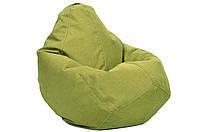 Салатовое кресло-мешок груша 100*75 см из микро-рогожки, фото 1