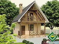 Строительство дома из сип панелей 65,83 м.кв., «МАЛЫЙ»