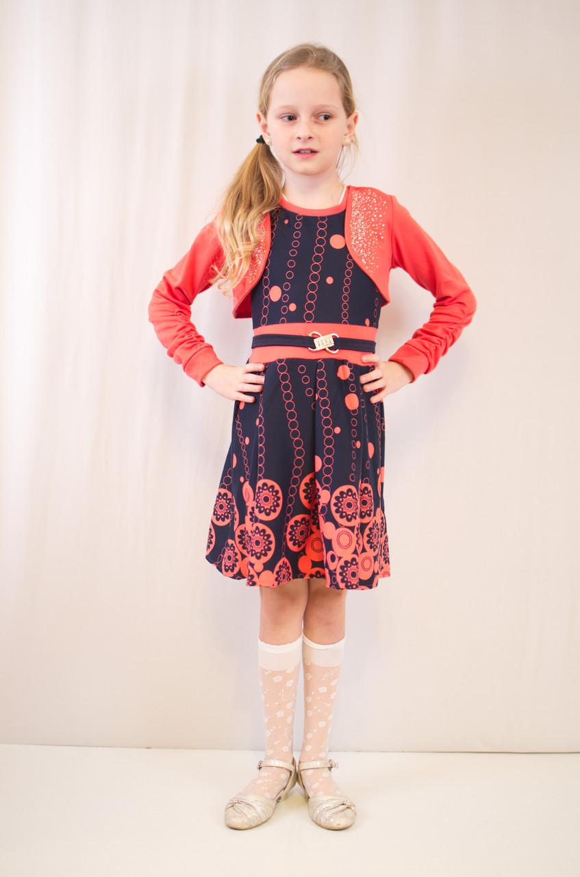 Стильне дитяче, ошатне плаття з болеро.