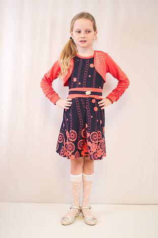 Стильне дитяче, ошатне плаття з болеро., фото 2