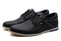 Туфли мужские кожаные спортивные H.Denim, черные, фото 1