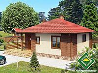 Строительство дома из сип панелей 69,26 м.кв., «БЭРРИ»