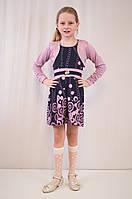 Детское модное, нарядное платье с  красивым болеро.