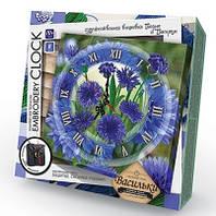 Творческий набор Часы EMBROIDERY CLOCK Васильки