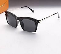 Женские очки в оправе прямоугольной формы, цвет черный, душки металл сталь