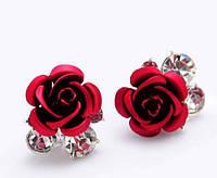 """Серьги """"Stones&Rose red"""" , фото 1"""