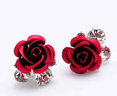 "Серьги ""Stones&Rose red"""