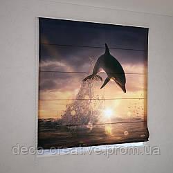 Римские фотошторы дельфин на закате