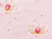 Обои на стену, цветы, тюльпаны, розовые, бумажные, Март 6435-02, 0,53*10м