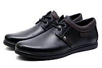 Туфли спортивные мужские LeaTher, черный, р. 41