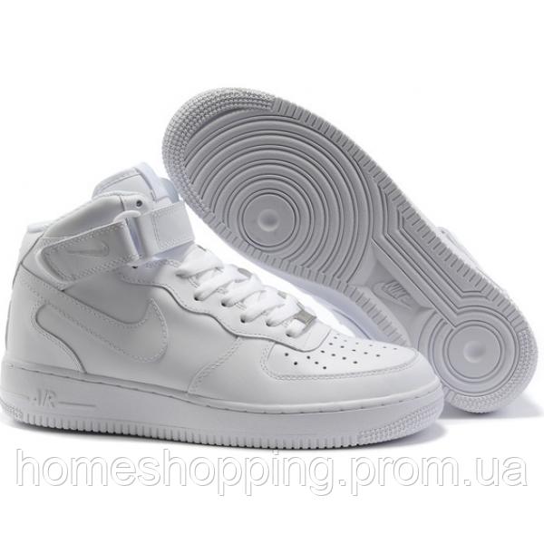 516633de Купить Кроссовки Женские Nike Air Force Mid 1 All White в Харькове ...