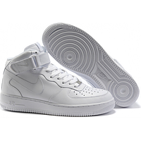 Кроссовки Женские Nike Air Force Mid 1 All White, фото 1