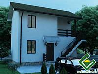 Строительство дома из сип панелей 69,12 м.кв., «СМЫЧОК»