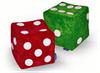 Пуфик-кубики, игральные кубики