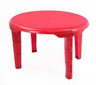 """Стол детский овальный - цвет темно-красный """"K-PLAST"""""""