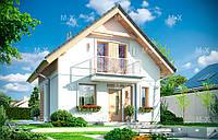 MS119. Классический дом с мансардой и террасой на внутреннем дворе, фото 1