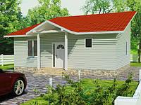 Строительство дома из сип панелей 71,01 м.кв., «АФРИКА»