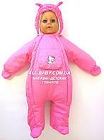 Бесплатная доставка!  Демисезонный комбинезон для новорожденного (0-6 месяцев) Розовый