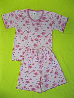 Пижама на девочку розовая с цветочками