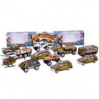Машинки металлические JP7109C военная техника, набор машинок танки, вертолеты, джипы, машинки модельки