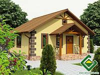 Строительство дома из сип панелей 71,74 м.кв., «НАЙС»