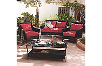 Набор садовой мебели George Home Jakarta Classic Conversation Sofa Set Red