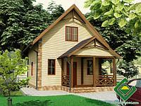 Строительство дома из сип панелей 74,47 м.кв., «ГЕКТОР МИНИ»
