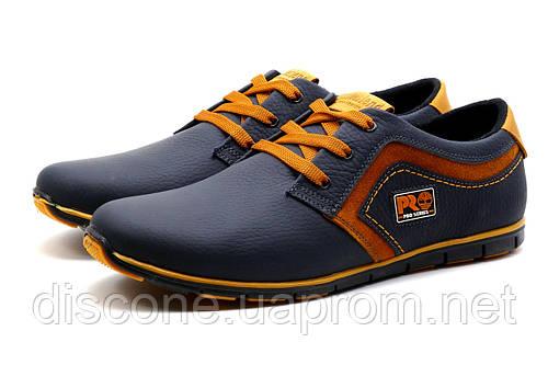 Туфли мужские кожаные спортивные Timberlend, синие
