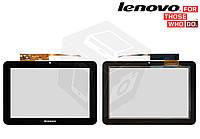 Сенсорный экран (touchscreen) для Lenovo IdeaTab S2007, черный, оригинал
