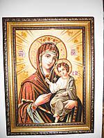 Икона Иверская из янтаря 25*20 см.