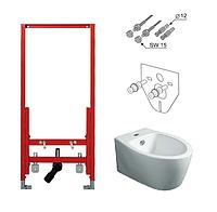Комплект инсталляция TECE с подвесным биде SIMAS LFT Spazio