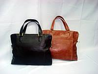 Женская кожаная деловая сумка