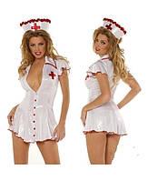 Эротический костюм медсестры в халатике