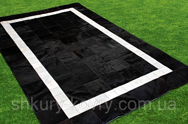 Ковры из шкур коровы, кожаные ковры, черно-белый ковер
