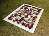 Ковры из квадратиков кожи, аргентинские ковры