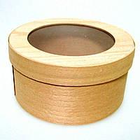 Коробка подарочная БОЛЬШАЯ из букового шпона с прозрачной крышкой 2500 (180*60 мм)