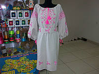 Праздничное вышитое платье