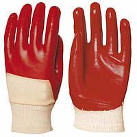 Перчатки трикотажные покрытые ПВХ, размер 10