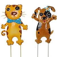 Садовая фигура Greenware декоративная Кот и Пес, комплект из 2-х шт (172372)