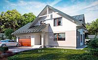 MS121 Современный дом с просторным балконом и гаражом, фото 1