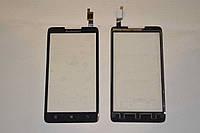 Оригинальный тачскрин / сенсор (сенсорное стекло) для Lenovo A766 (черный цвет, чип Goodix) + СКОТЧ В ПОДАРОК