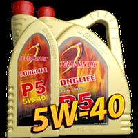 Синтетическое моторное масло Longlife P-5 SAE 5W-40 1л